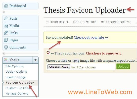 thesis favicon 1.8 The brand-new header image and favicon uploaders will then i downloaded thesis 18 and uploaded it to a new thesis_18 subfolder by following the instructions on.