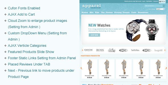 Apparel and Clothes Premium Magento Theme For eCommerce Website