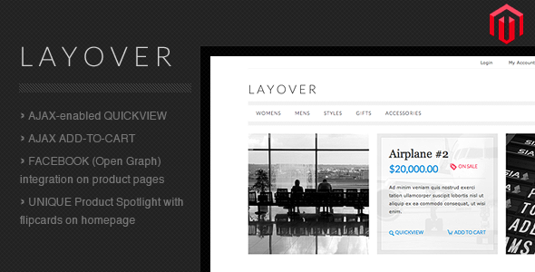 Layover Premium Magento Template For eCommerce Website