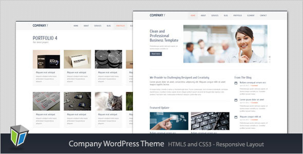 Company Responsive Corporate WordPress Theme - Welcome To Four ...