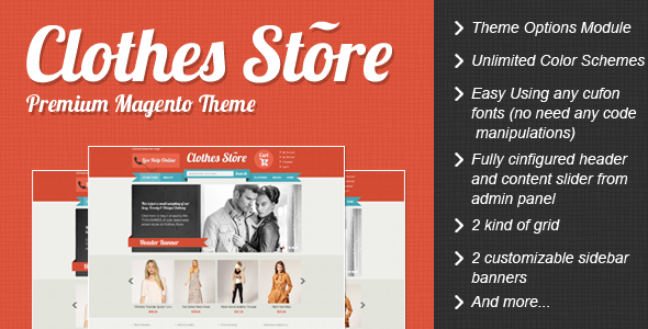 Clothes Store Premium Magento Theme For eCommerce Website