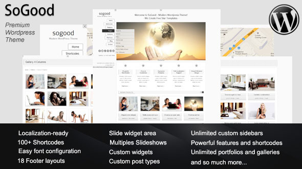 SoGood Modern WordPress Premium Theme