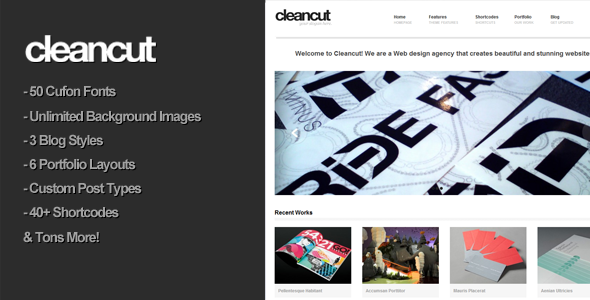 Cleancut Premium Portfolio WordPress Theme Review