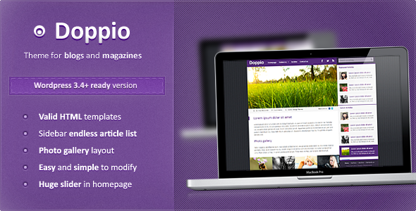 Doppio Magazine Premium WordPress Theme