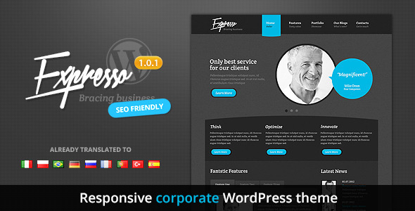Expresso Responsive Corporate Premium  WordPress Theme