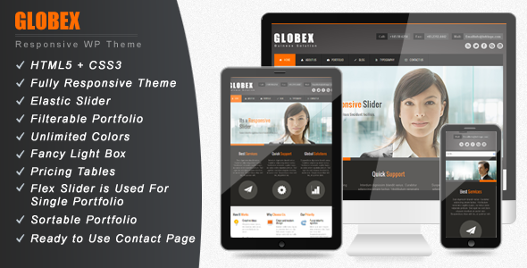 Globex Responsive Business WordPress Theme Review