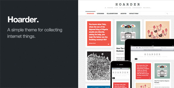 Hoarder Responsive WordPress Blog Premium Theme