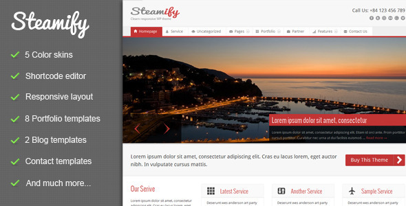 Steamify Responsive Premium WordPress Theme