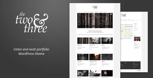 Two and Three Portfolio Premium WordPress Theme