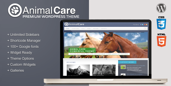 Animal Care WordPress Premium Theme