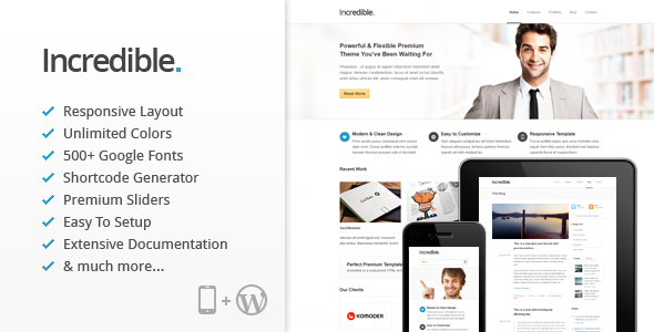 Incredible Responsive Premium WordPress Theme