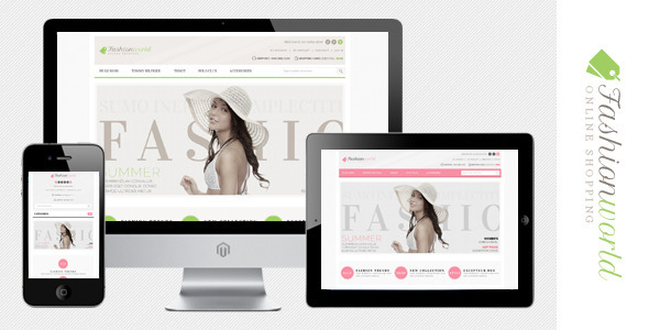 Fashion World Premium Responsive Magento Theme